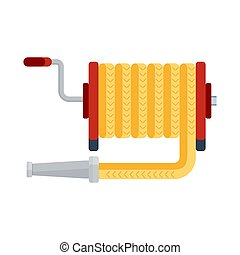 fire hose icon - Fire hose icon. Fighting with fire and fire...