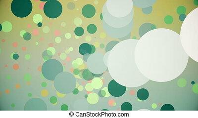 Rotating circles in various colors