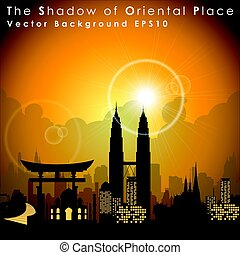World's famous landmarks and monuments. Oriental Place....
