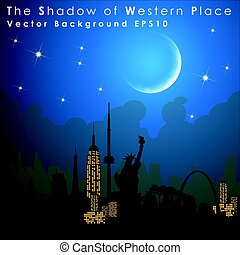 World's famous landmarks and monuments. Western Place....