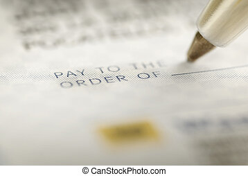 Signing a Check for Personal Finances