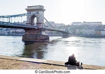 hungary, budapest, chain bridge