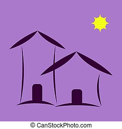 Home icon - Home House or property icon in purple