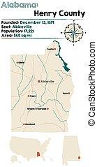 Alabama: Henry county map