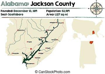 Alabama: Jackson county map