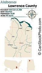 Alabama: Lawrence county map