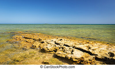 New Caledonia Ocean Scenic - View from Duck Island over...