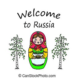 Russian dolls - matryoshka. Vector illustration - Welcome to...