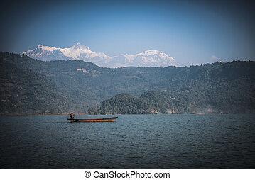 Lake Phewa in Pokhara