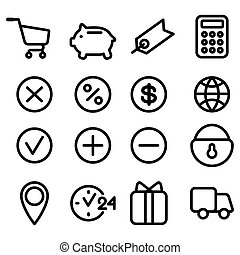 set of icons for site