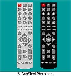 Remote control,cartoon vector illustration