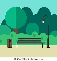 Outdoor furniture and lighting