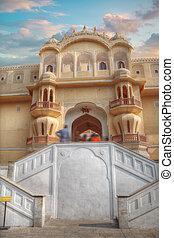 Hawa Mahal - Pink Palace Jaipur - Hawa Mahal. India,...