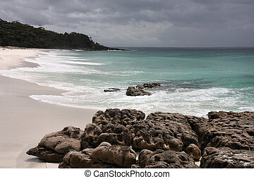 Australia - Hyams Beach in Jervis Bay, New South Wales,...