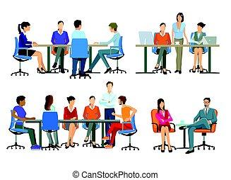 Arbeit- Brainstorming.eps - Office Work, workflow,...