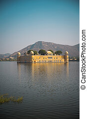 Jaipur. Water Palace in the middle of the lake