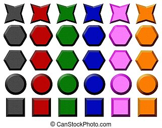 Color set of buttons
