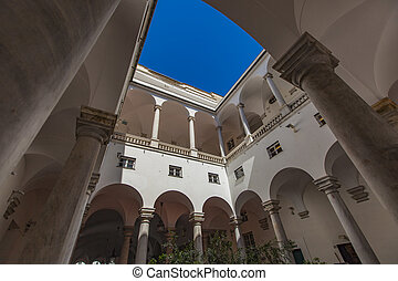 Doge Palace in Genoa - Porticato at Doge Palace in Genoa,...