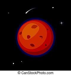 Vector planet Mars illustration