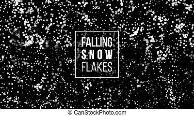 Falling Snow Background. Winter Snowed Vector Illustration. Christmas White Snowflake