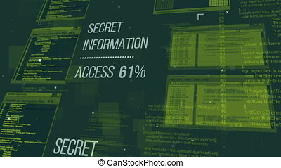 Hacking the Secret information database via the Internet....