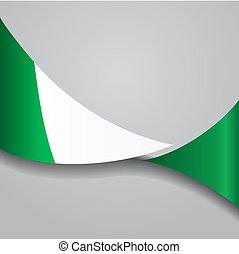 Nigerian wavy flag. Vector illustration. - Nigerian flag...