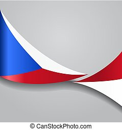 Czech wavy flag. Vector illustration. - Czech flag wavy...