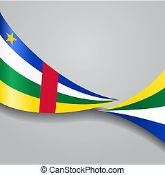 Central African Republic wavy flag. Vector illustration. -...
