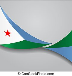Djibouti wavy flag. Vector illustration. - Djibouti flag...