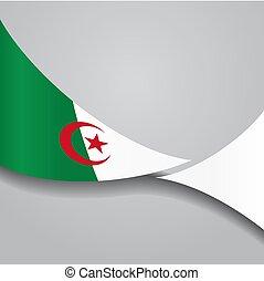 Algerian wavy flag. Vector illustration. - Algerian flag...