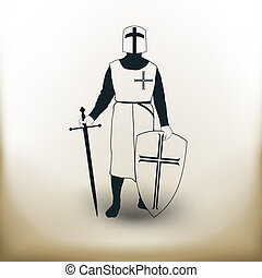 simple knight - Simple symbolic image of the knight of the...