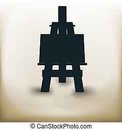 simple easel - Simple symbolic image of an easel in...