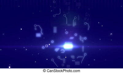 """Circuit abstract hand background"" - ""Animation of a Circuit..."