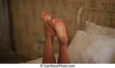 Women's bare legs. Legs of the bride. Wedding in Montenegro