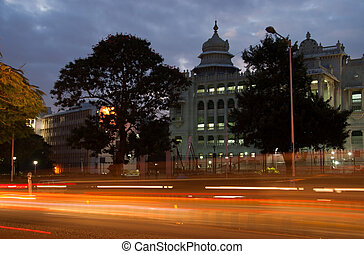 Bangalore at night - The addition to the state legislature...