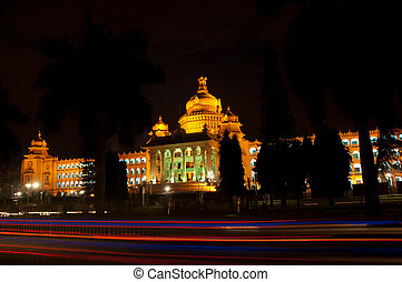 Bangalore - The state legislature building, the Vidhana...