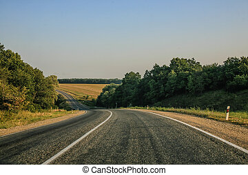 meandering country road and a beautiful landscape
