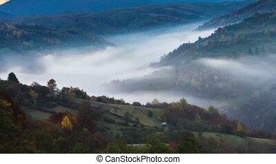 Autumnal sunrise time lapse - Autumn time lapse in Carpatian...