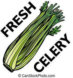 Celery - An image of a stalk of celery