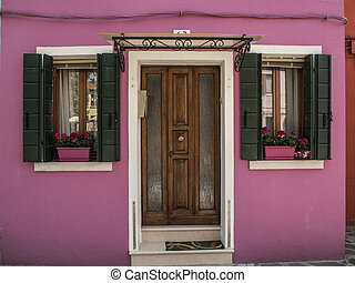 Pink house.