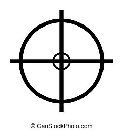 crosshair target vector symbol icon design. Beautiful...