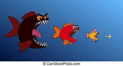 Big Fish Eats Small Fish Food Chain - Big fish eats small...