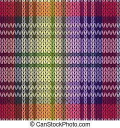 Knitting seamless pattern mainly in purple and violet hues