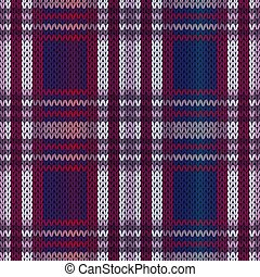 Seamless knitting color pattern in blue, violet and claret hues