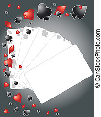 playing cards - an illustration of playing card elements...