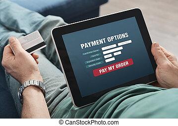 Zahlung,  online