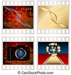 Shot - Collection from four pictures made in the form of...