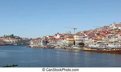 Porto city at clear sunny day - Panoramic view of Porto city...