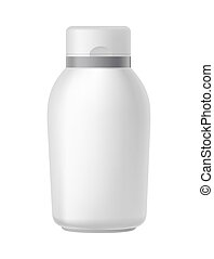 Blank beauty hygiene container isolated on white vector illustration.