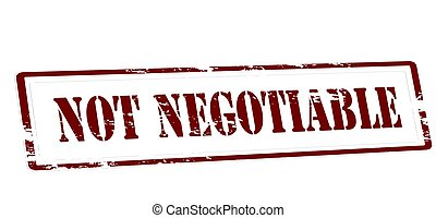 Not negotiable - Stamp with text not negotiable inside,...